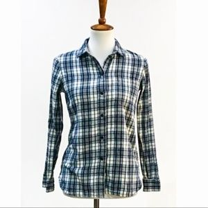 Madewell Plaid Long Sleeve Button Down Top Small